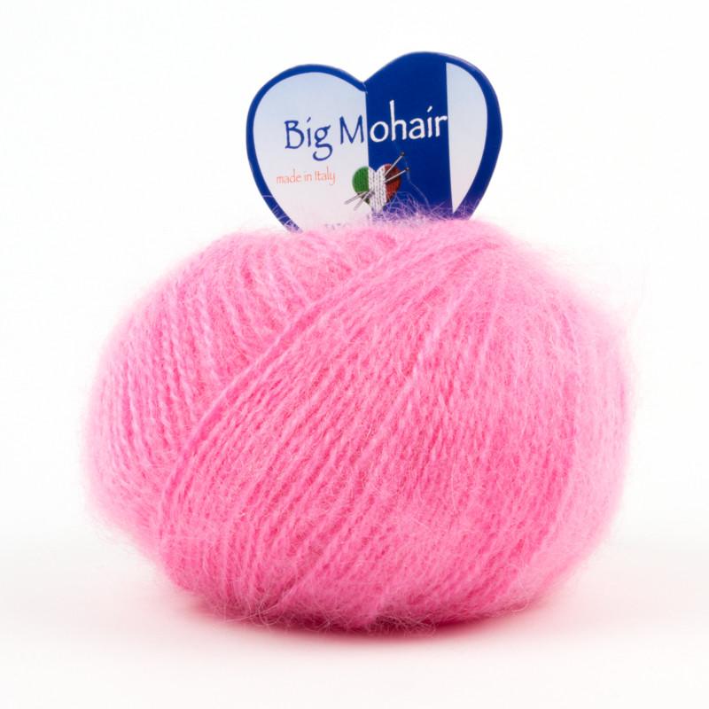 Big Mohair Filato Misto Lana Ideale Per Neonati - Rosa 14