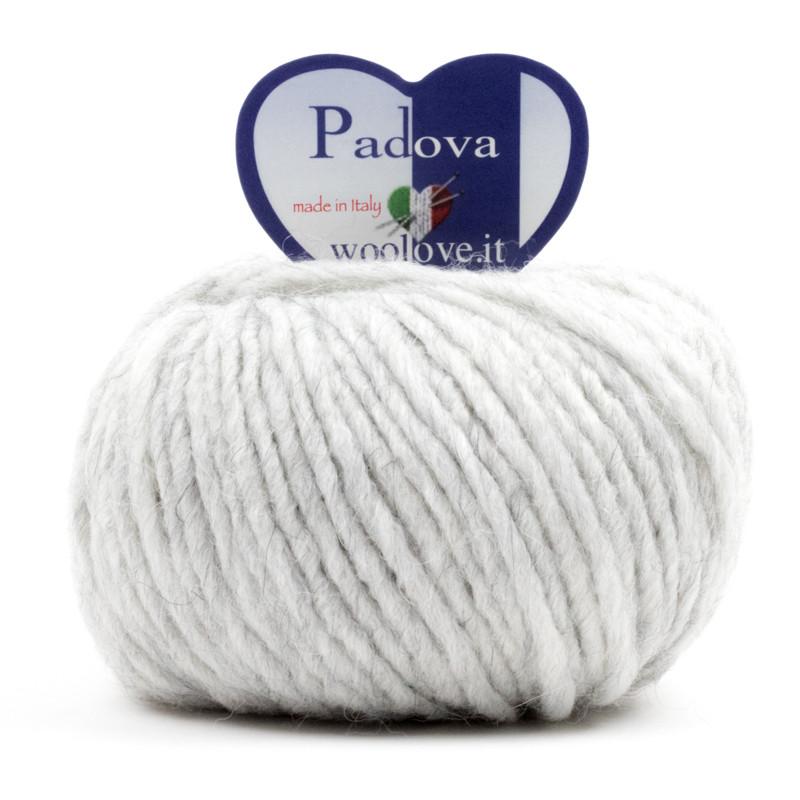 Padova - Filato Misto Lana E Alpaca Ideale Per Uncinetto - Grigio Perla 15