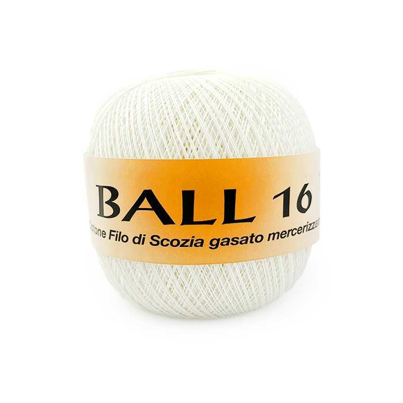 Ball 16 Filato Puro Cotone Filo Di Scozia Ideale Per Uncinetto - Panna 151