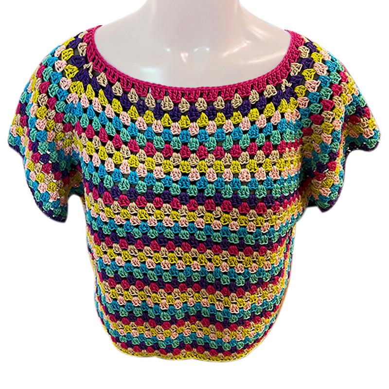 Kit Pattern - Maglietta Multicolore in cotone Doppio Ritorto