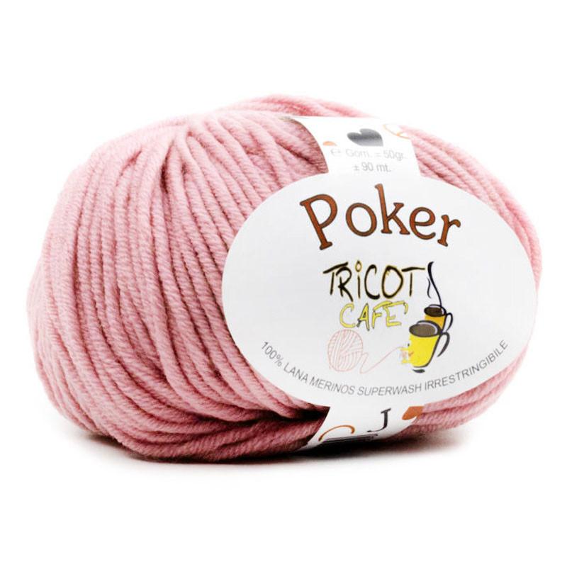 Poker - Filato Pura Lana Merinos Irrestringibile ideale per neonati - Rosa Antico 13