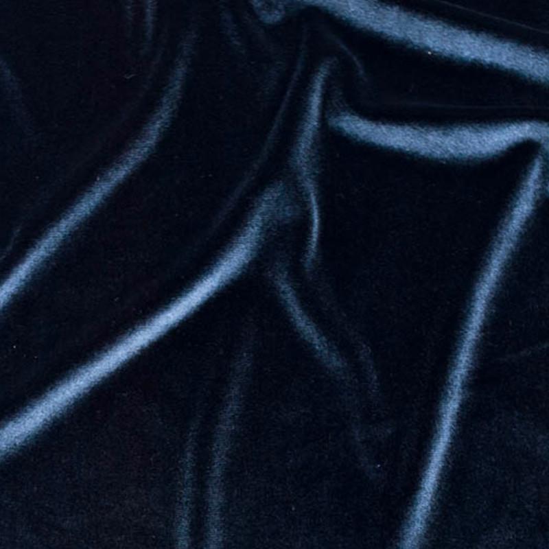 Tessuto Velluto Blu Notte