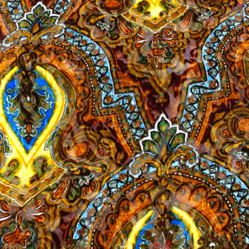 Tessuto tipo Etro velluto Ornamenti