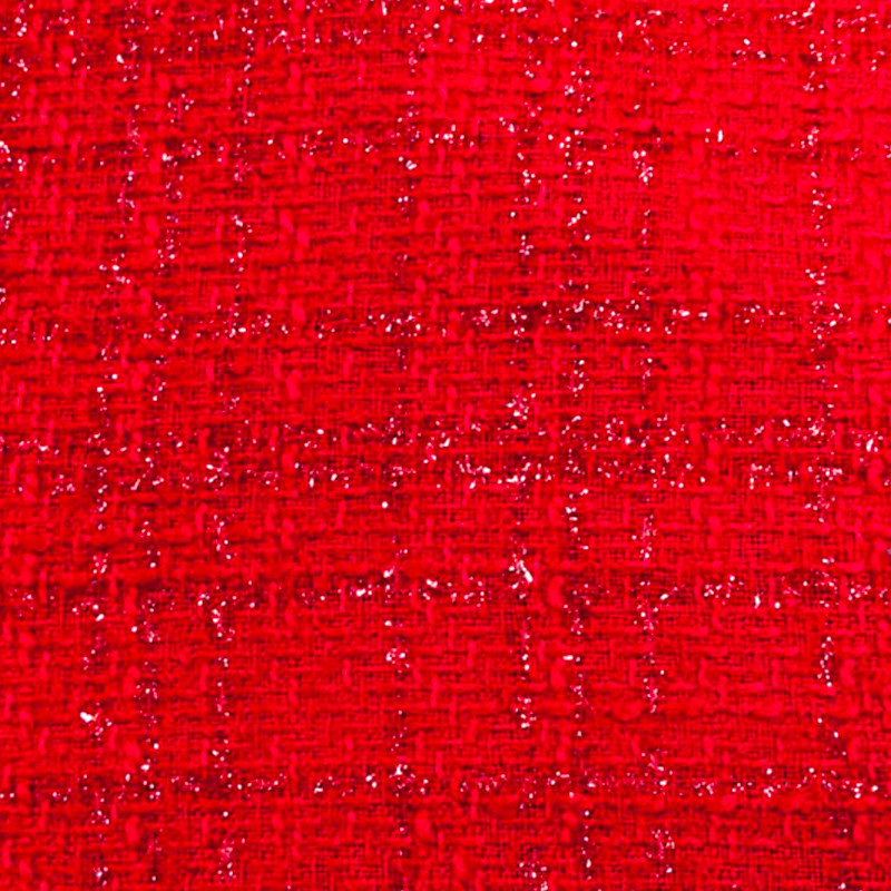 Tessuto Misto Lana Tipo Chanel Rosso
