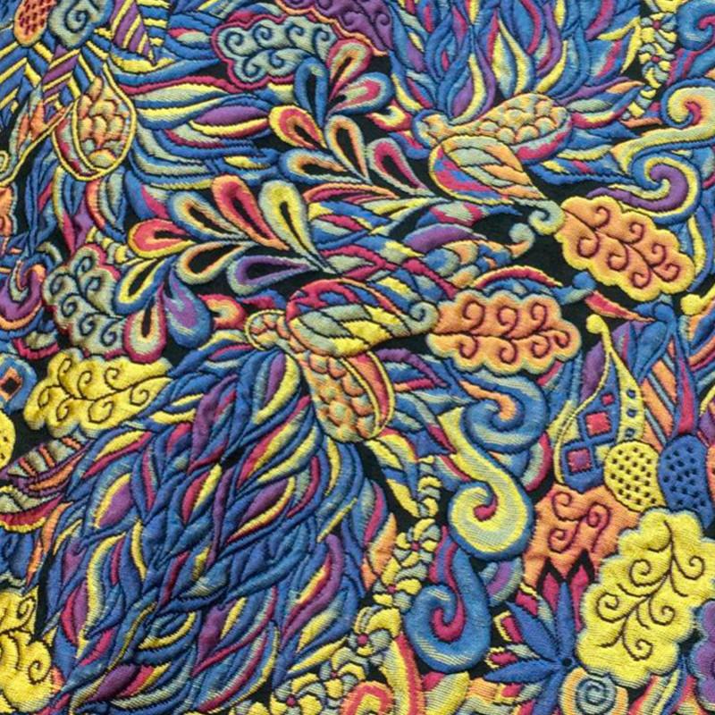 Tessuto Broccato Multicolore