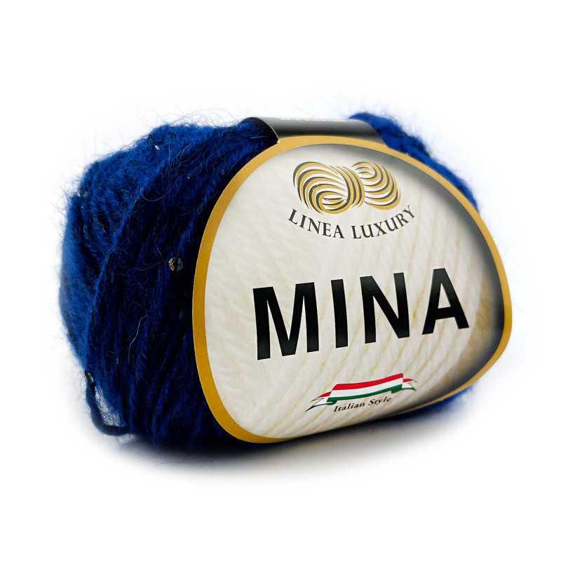 Mina filato misto lana con paillettes Blu