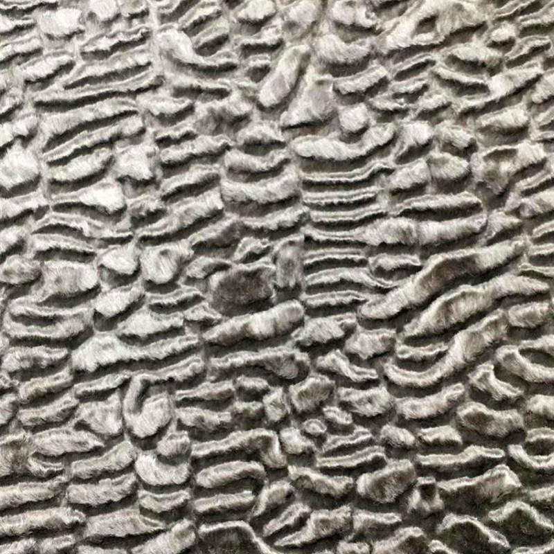Tessuto al metro effetto pelliccia ecologico Grigio