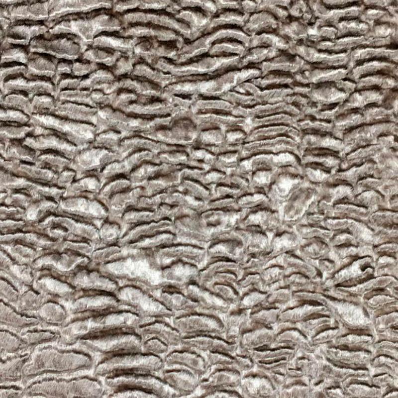 Tessuto al metro effetto pelliccia ecologico Marrone