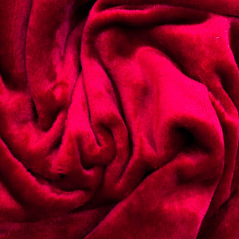 Tessuto al metro in morbido Pile effetto Pelliccia Rosso