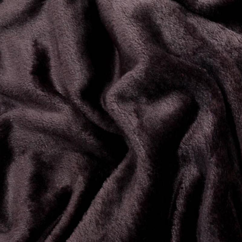 Tessuto al metro in morbido Pile effetto Pelliccia Marrone