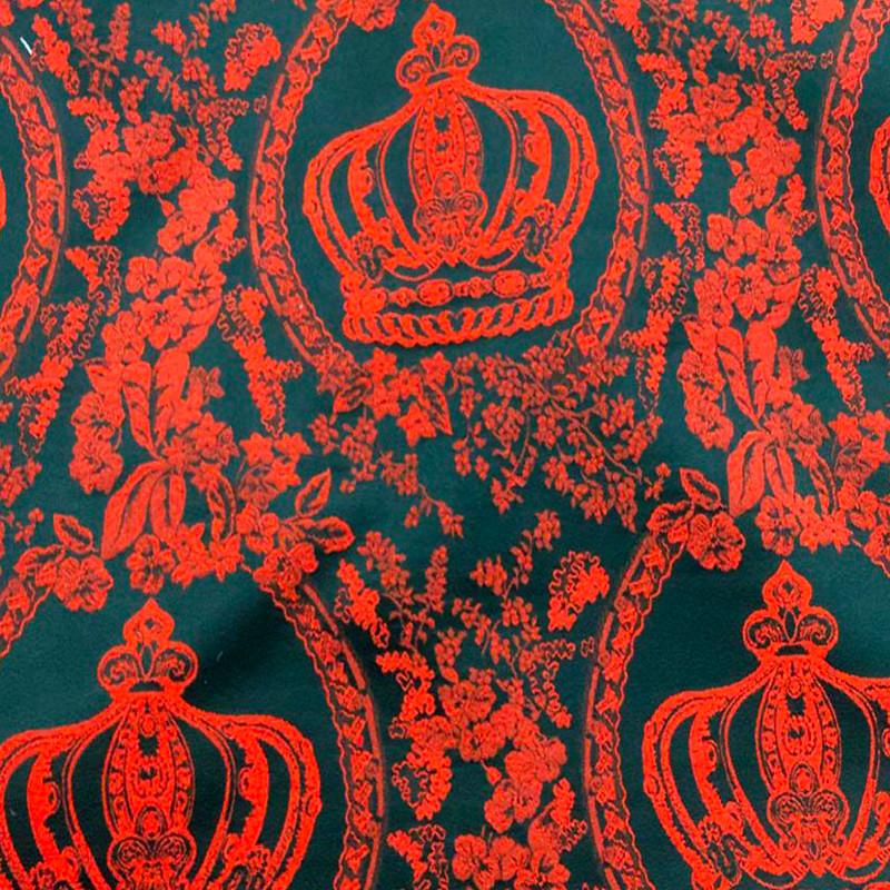 Tessuto al metro tipo D&G Damascato Rosso