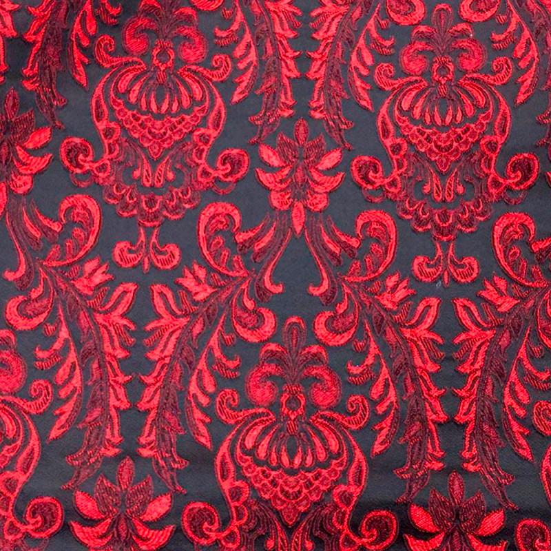 Tessuto al metro tipo D&G Damascato Rosso Scuro