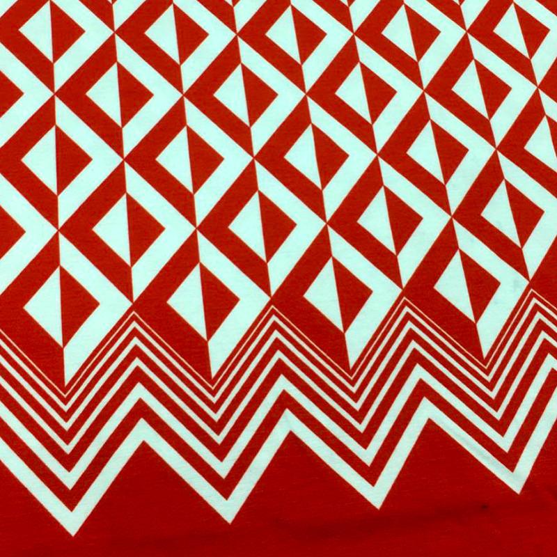 Tessuto Jersey Rosso