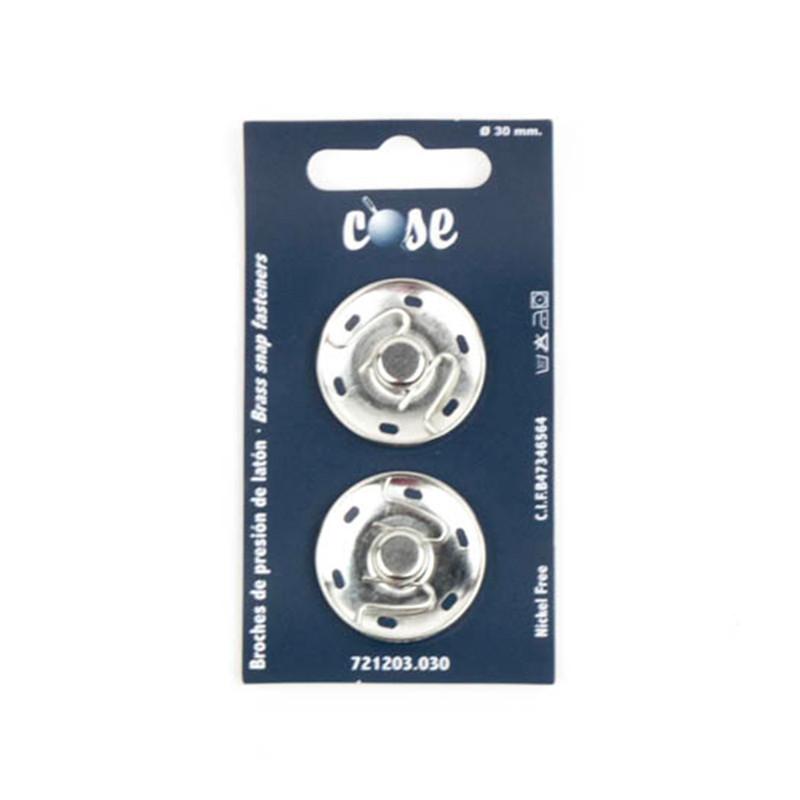 Bottoni 30 mm Silver