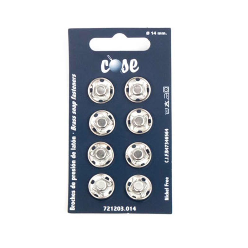 Bottoni 14 mm Silver