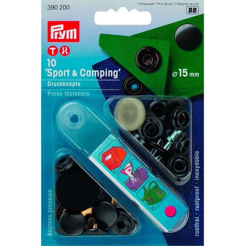 Bottoni a pressione 'Sport & Camping' 15 mm ossido