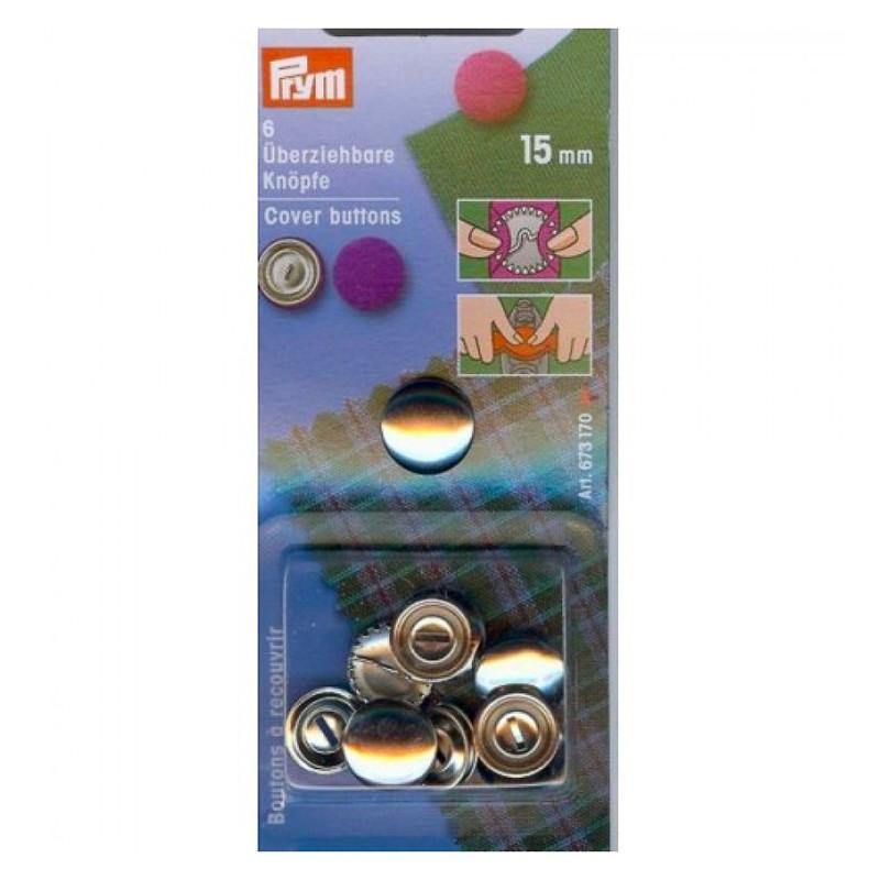 Bottoni per ricoprire 15 mm