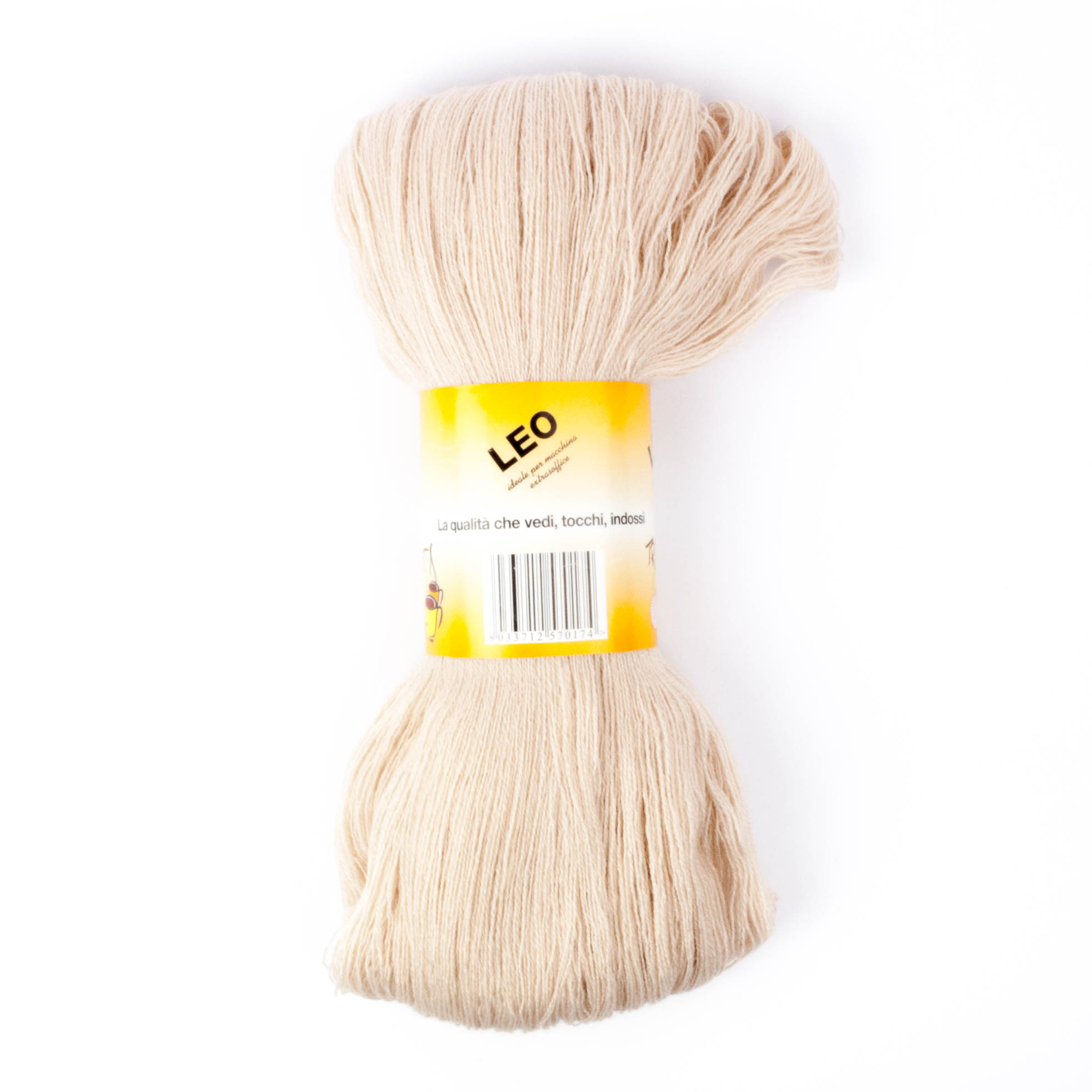 Leo - Matassa misto lana ideale per lavori a mano e macchina - Beige 4