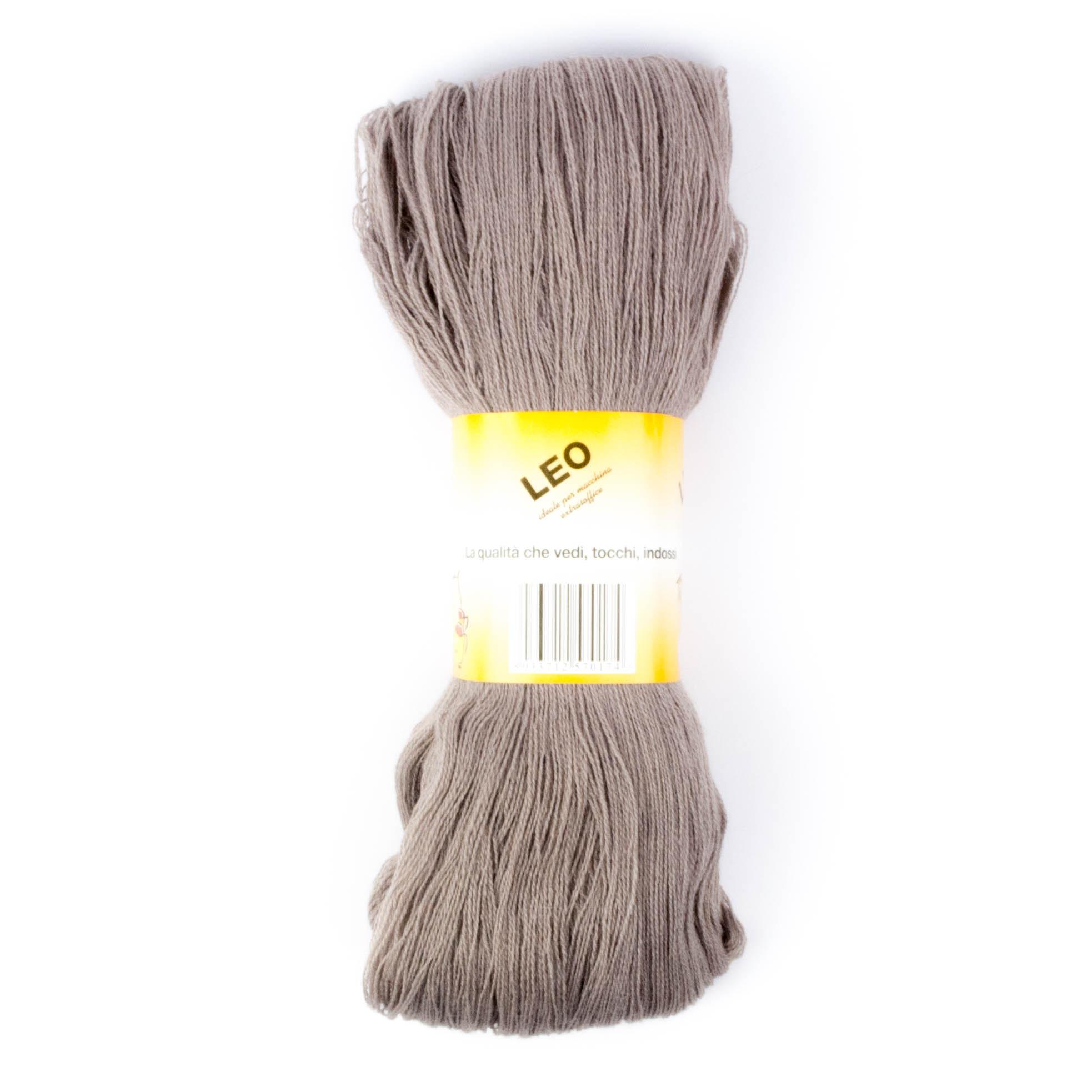 Leo - Matassa misto lana ideale per lavori a mano e macchina - Tortora 46