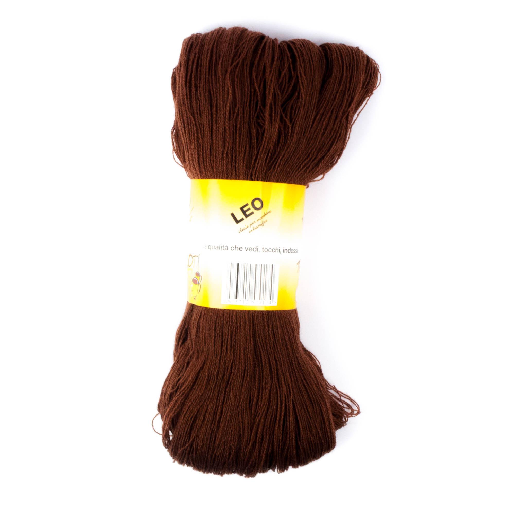 Leo - Matassa misto lana ideale per lavori a mano e macchina - Marrone 8