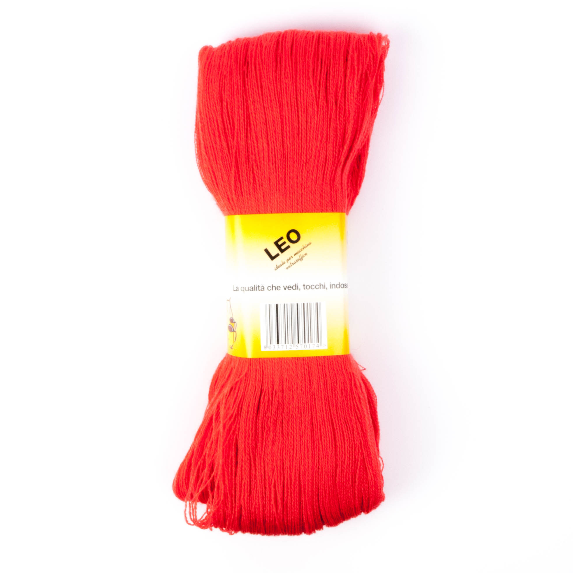 Leo - Matassa misto lana ideale per lavori a mano e macchina - Rosso 27