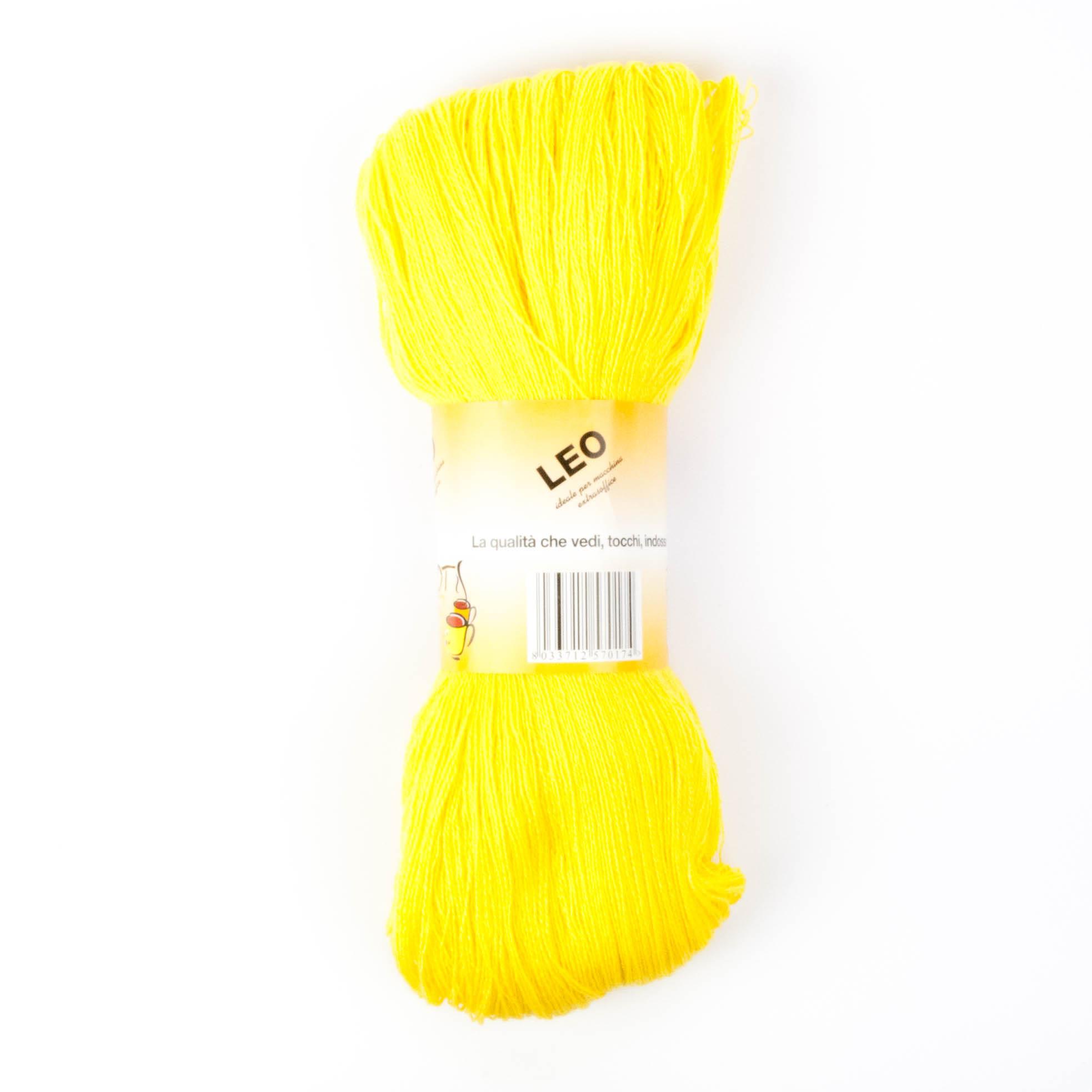 Leo - Matassa misto lana ideale per lavori a mano e macchina - Giallo 26