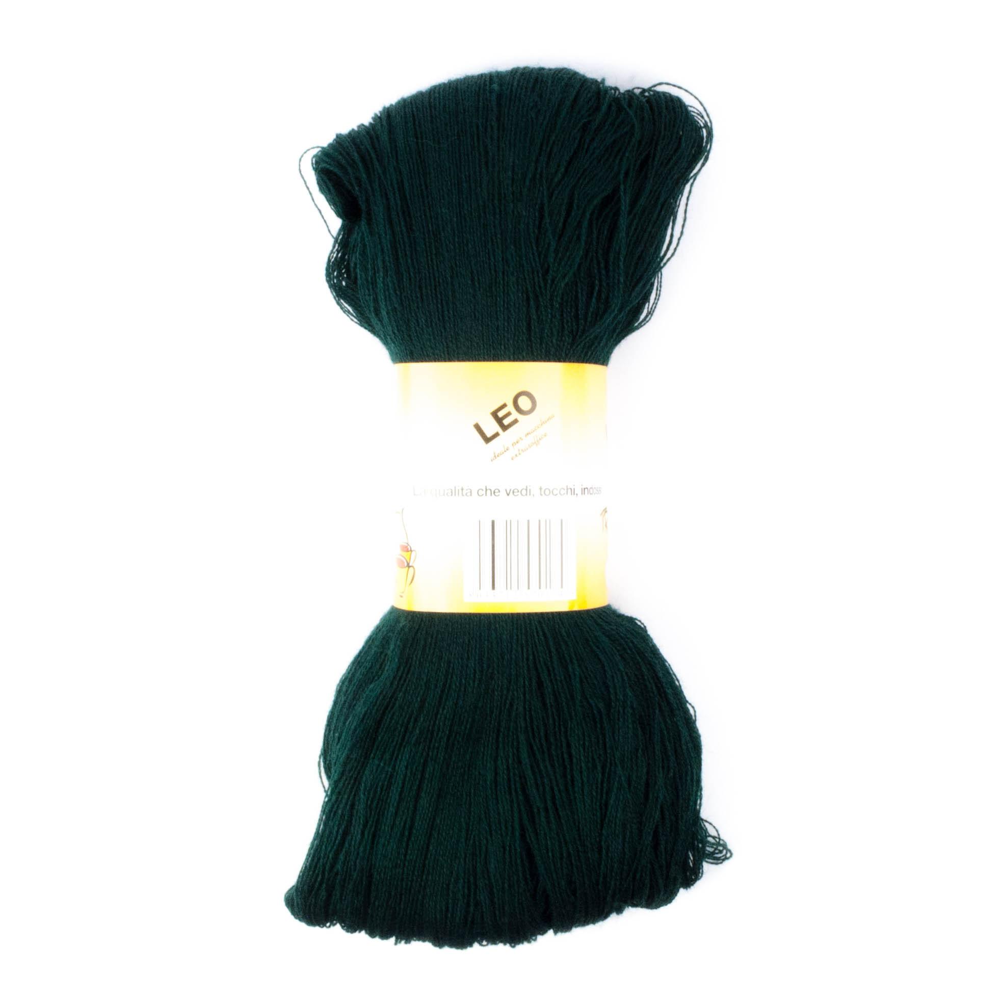 Leo - Matassa misto lana ideale per lavori a mano e macchina - Verde Scuro 19