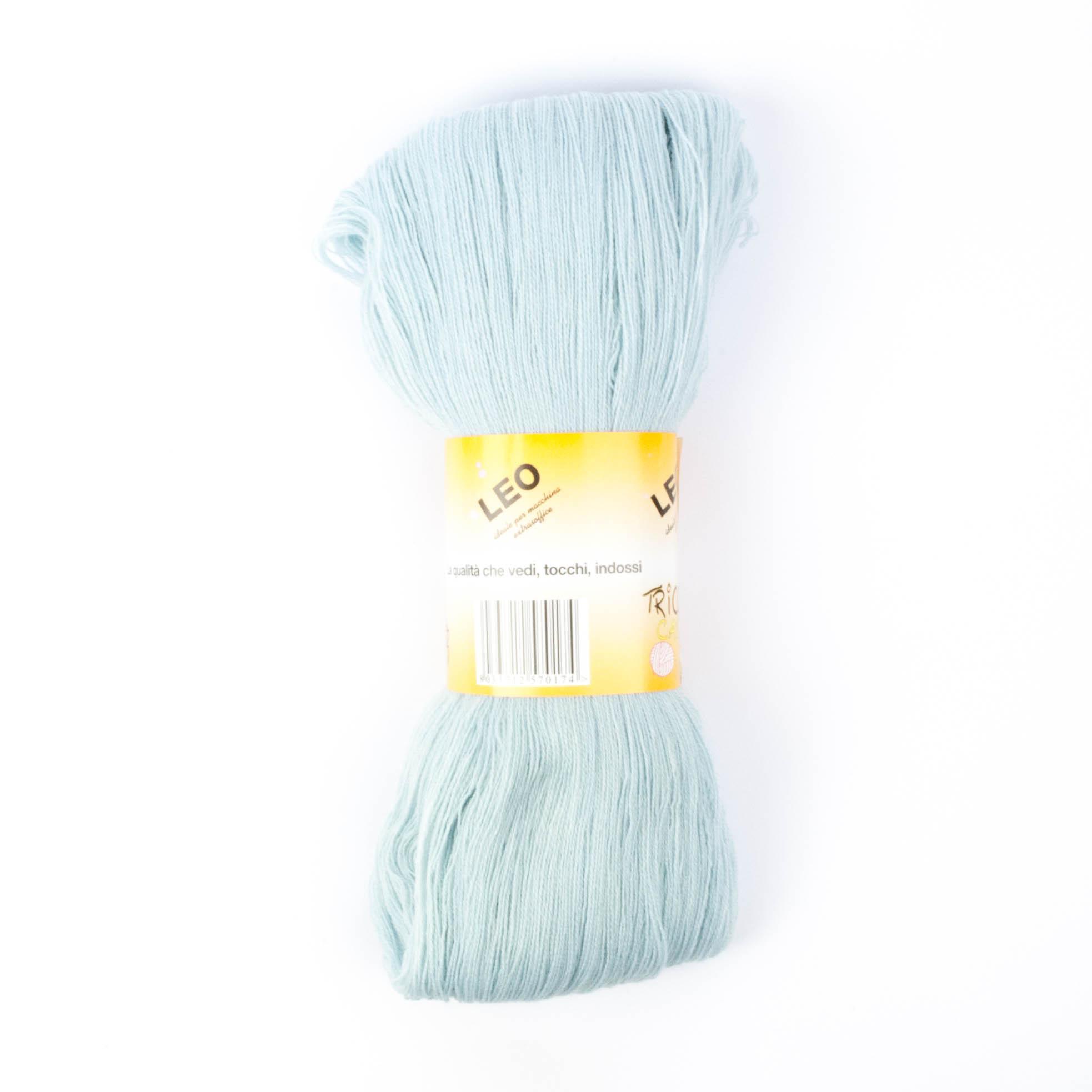Leo - Matassa misto lana ideale per lavori a mano e macchina - Azzurro Polvere 43