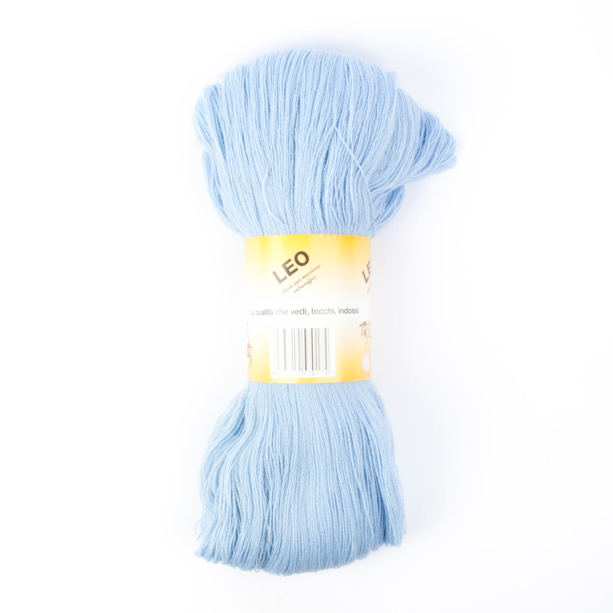 Leo - Matassa misto lana ideale per lavori a mano e macchina - Azzurro baby 20