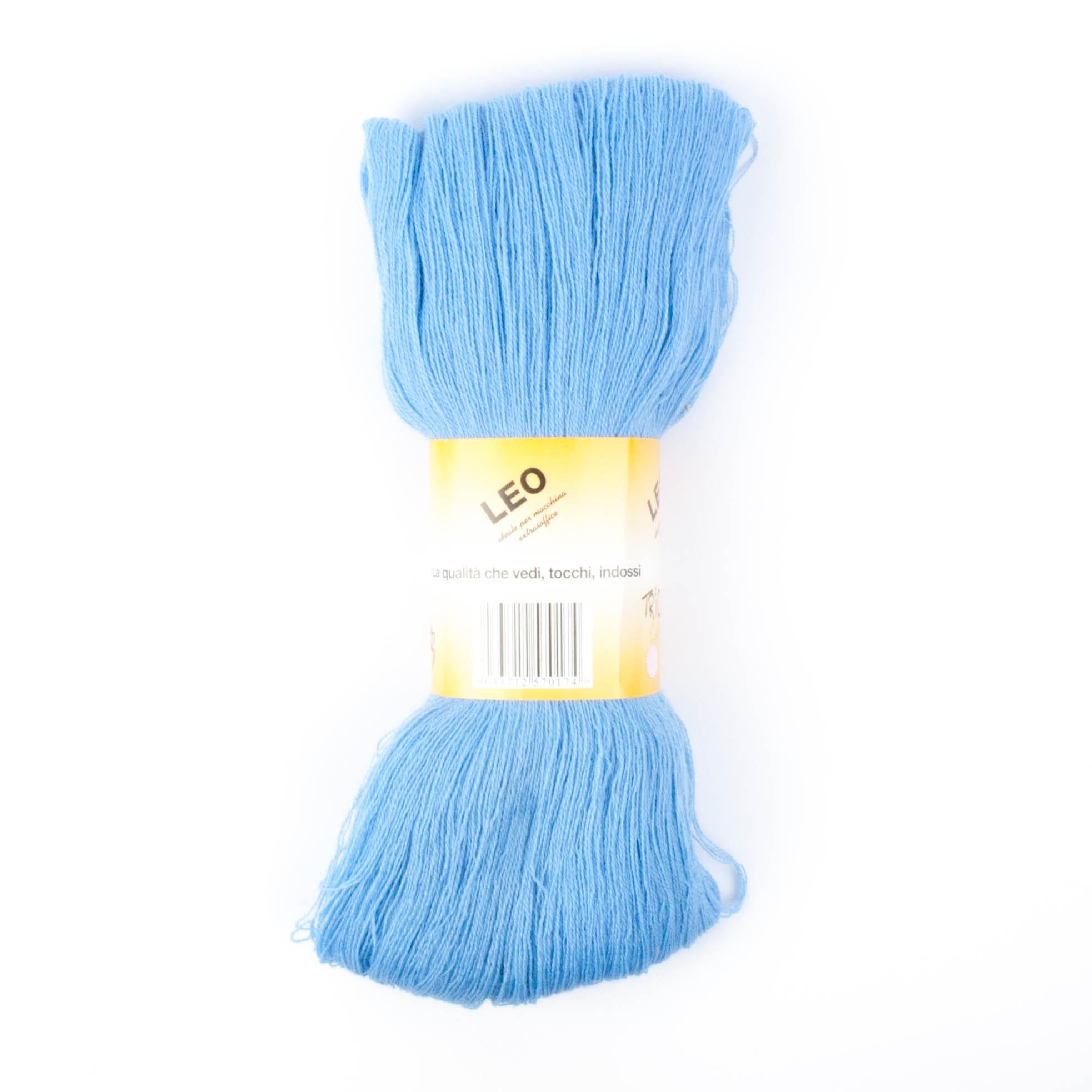 Leo - Matassa misto lana ideale per lavori a mano e macchina - Celeste 21
