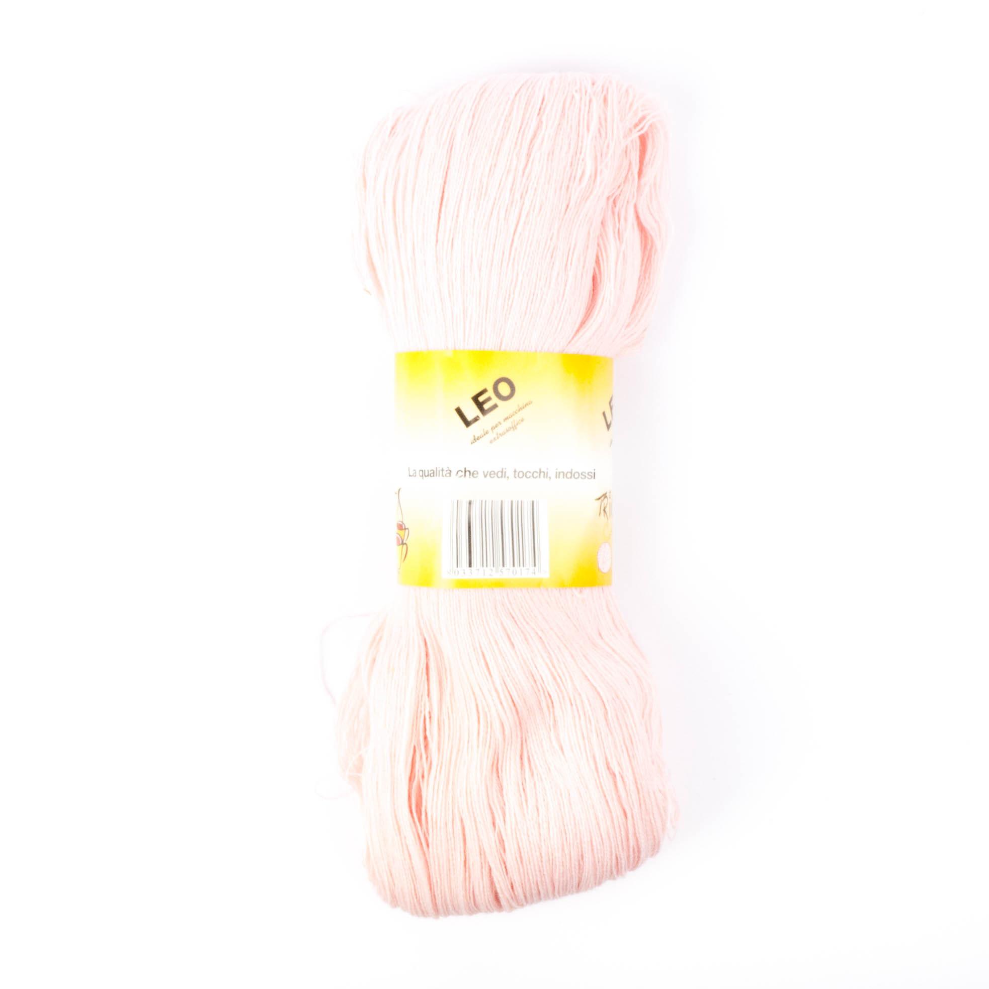 Leo - Matassa misto lana ideale per lavori a mano e macchina - Rosa Baby 45