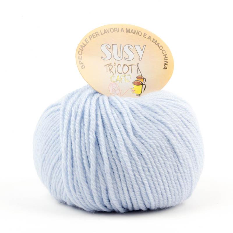 Susy - Filato misto lana merinos speciale per lavori a mano e a macchina - Azzurro Baby 23/10