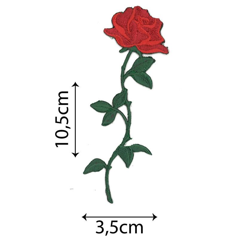 Rosa Piccola con Stelo Rosso