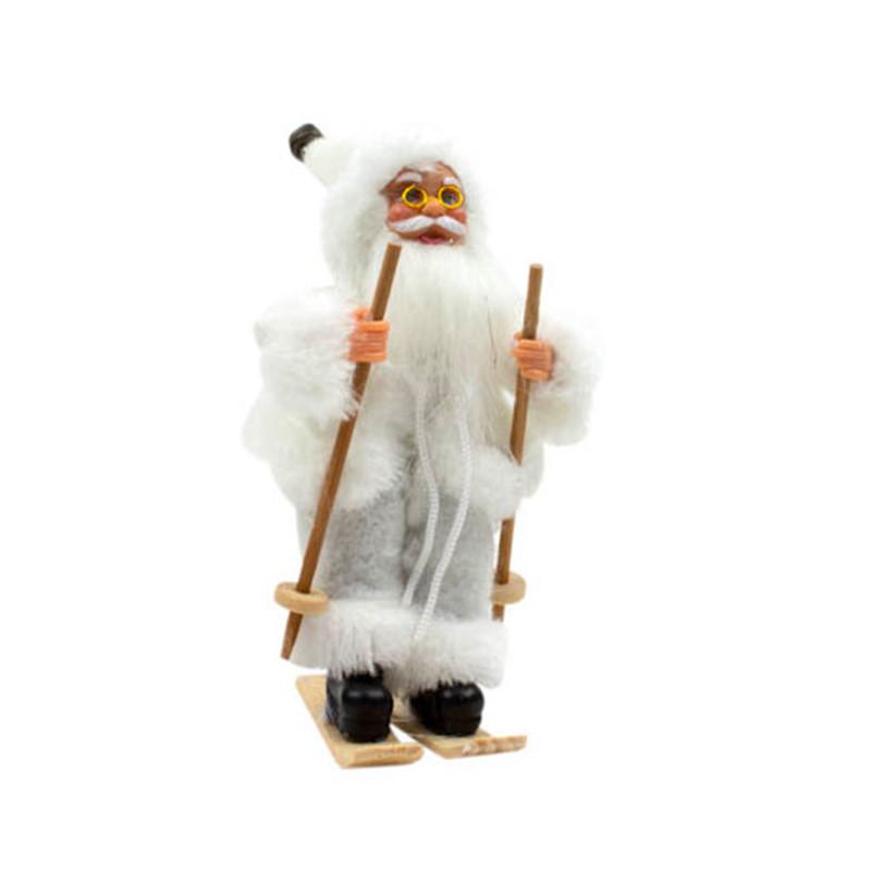 Babbo Natale Bianco Pelliccia Bianca
