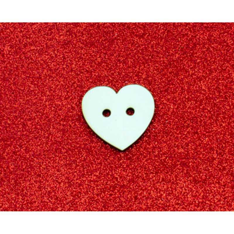 bottone cuore legno