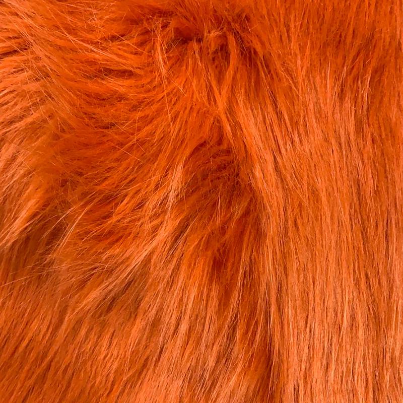 Tessuto al metro Pelliccia Ecologica colore Arancio