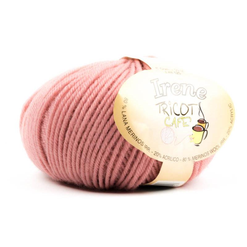 Irene - Filato misto lana merinos irrestringibile - Rosa Antico 13
