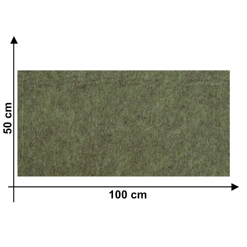 Feltro 3 mm Verde Melange X