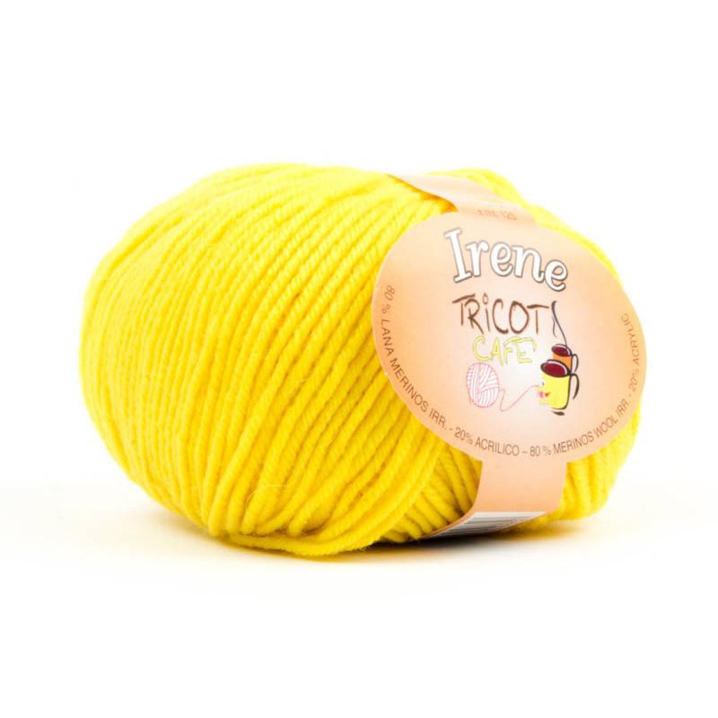 Irene - Filato misto lana merinos irrestringibile - Giallo 17