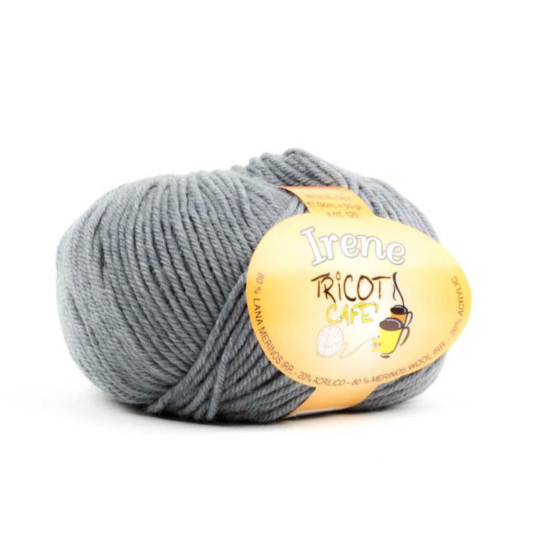 Irene - Filato misto lana merinos irrestringibile - Grigio Medio 7