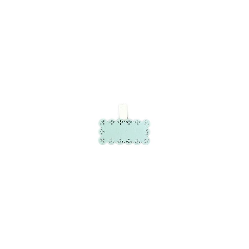 Decorazione Tavoletta scrivi nome con molletta Azzurro