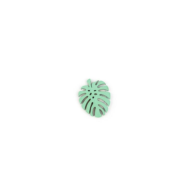 Decorazione Foglia Grande con adesivo Verde