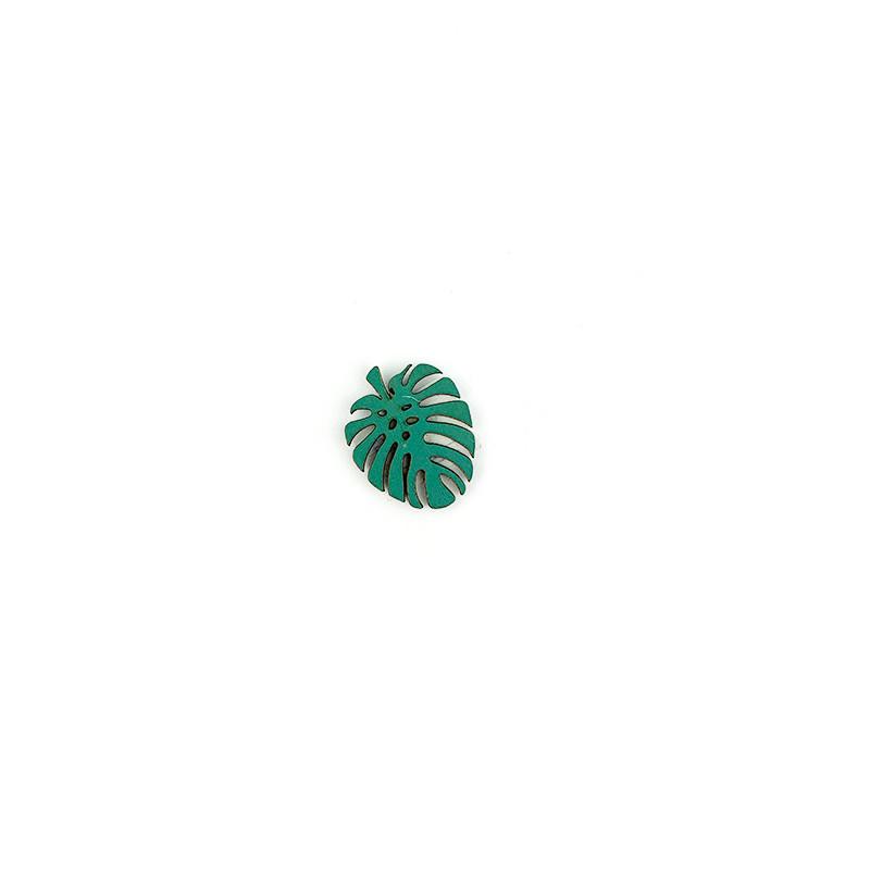 Decorazione Foglia Piccola con adesivo Verde