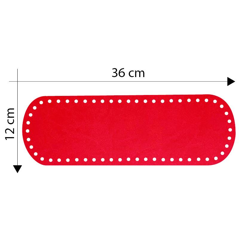 Fondo Borsa 36x12 cm Rosso