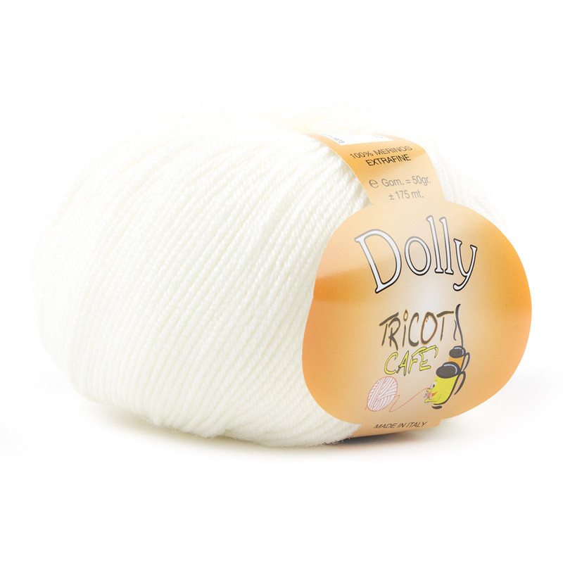 Dolly - Filato Pura Lana Merinos Extrafine - Bianco 1